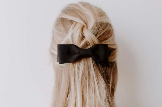 Grosgrain Stacked Bow Barrette - Upscale Women's Bow