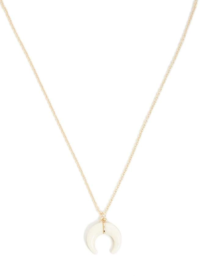 Forever 21 Crescent Pendant Chain Necklace