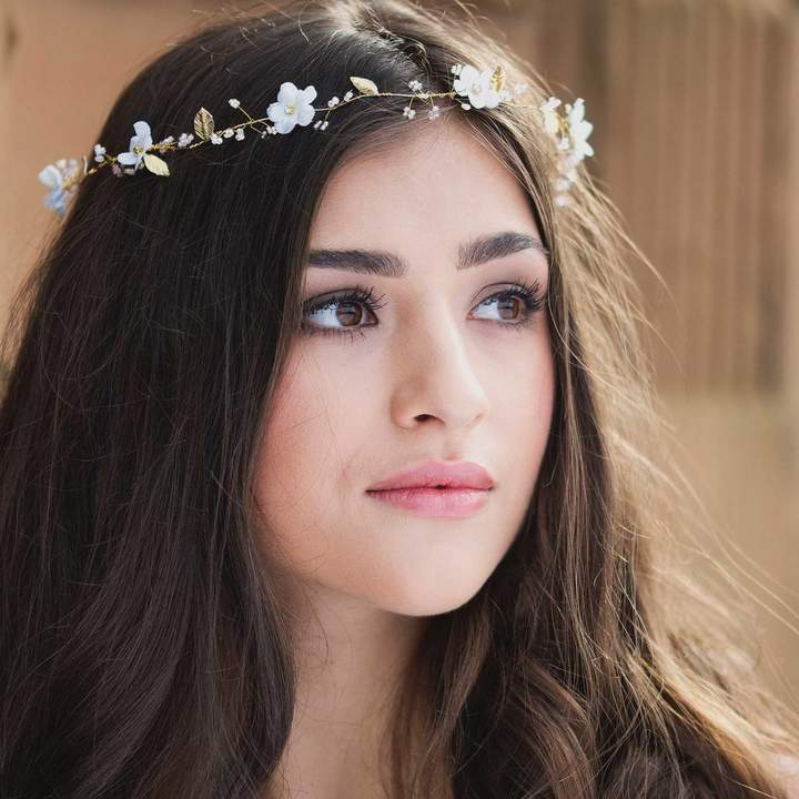 Fifth & Spring Jasmine Bridal Halo Or Hairvine