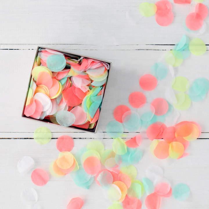 Postbox Party Neon Multi Colour Party Confetti In A Box