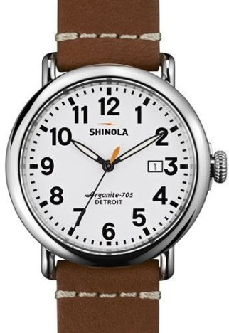 Shinola 41mm Runwell leather strap
