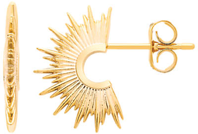 Estella Bartlett Sunburst Half Hoop Earrings, Gold