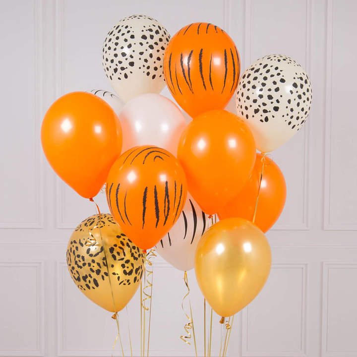 Bubblegum Balloons Pack Of 14 Wild Animal Party Balloons
