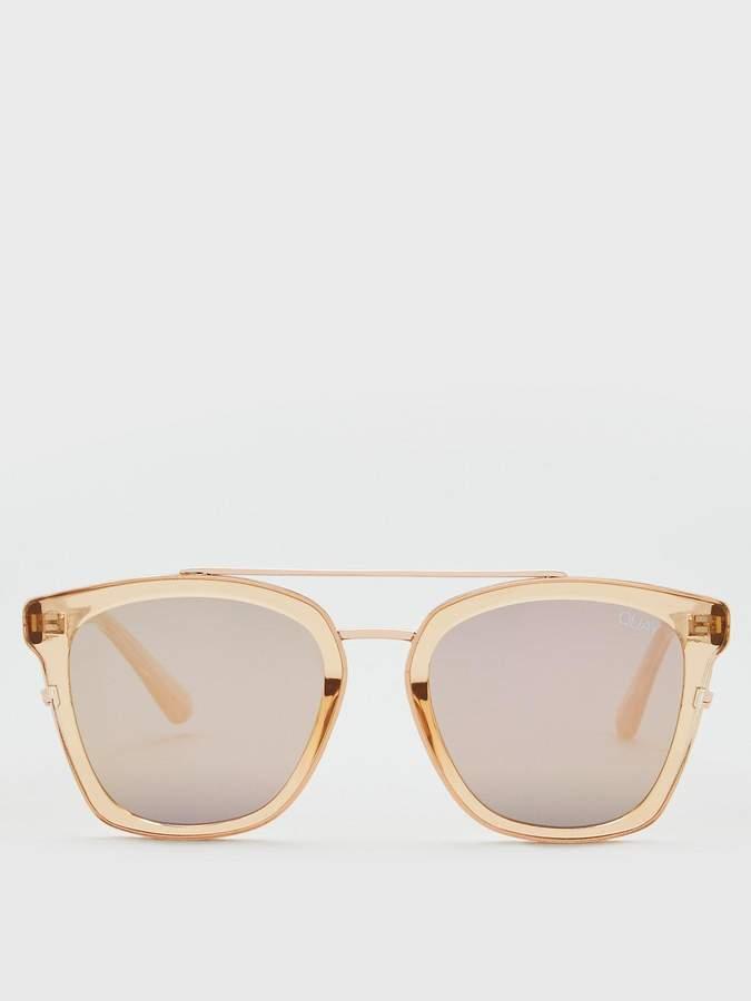 Quay Australia QUAY AUSTRALIA Sweet Dream Clubmaster Sunglasses - Rose