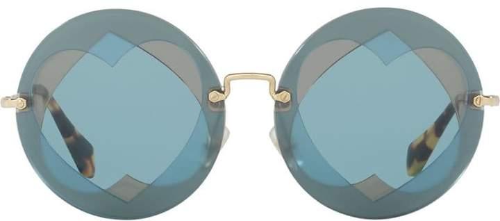 Miu Miu Eyewear round heart sunglasses