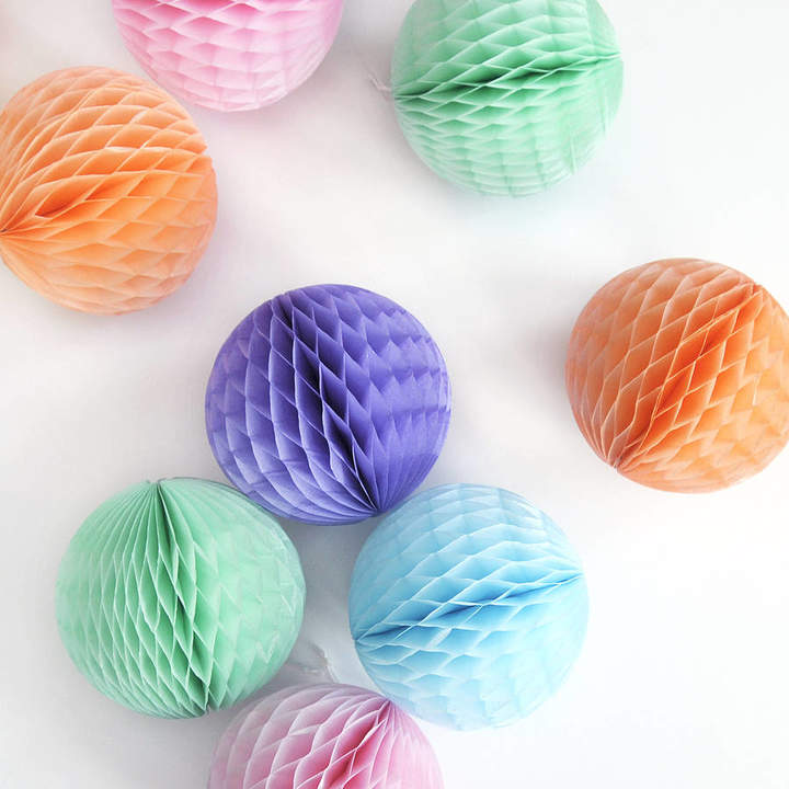 Peach Blossom Tissue Paper Ball Party Decoration