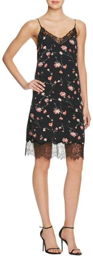 Lucy paris Lucy Paris Womens Floral Print Lace Slip Dress