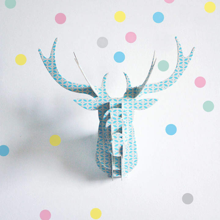 Little Baby Company Set Of 40 Pastel Dots Wall Stickers
