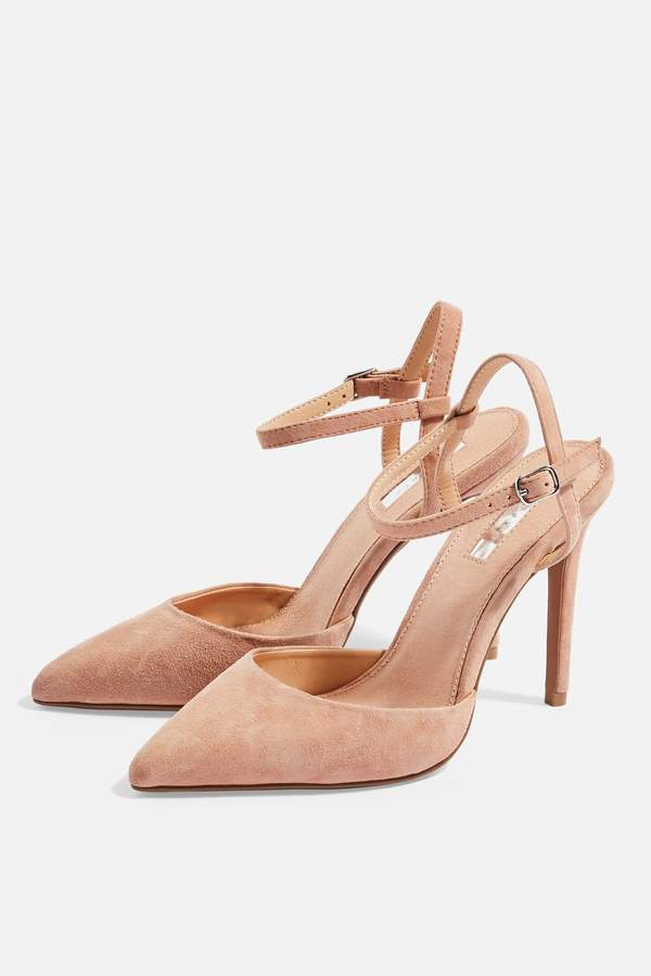 Topshop Womens Genesis Ankle Strap Shoes - Blush