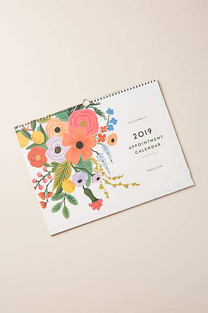 Rifle Paper Co. Horizontal Appointment Calendar