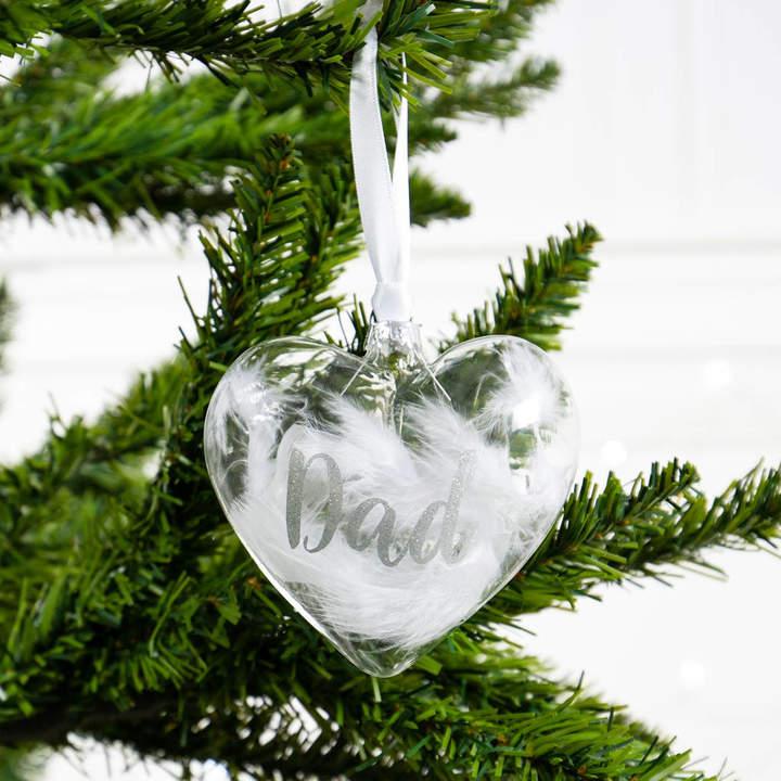 Bubblegum Balloons Personalised In Loving Memory Christmas Heart Bauble