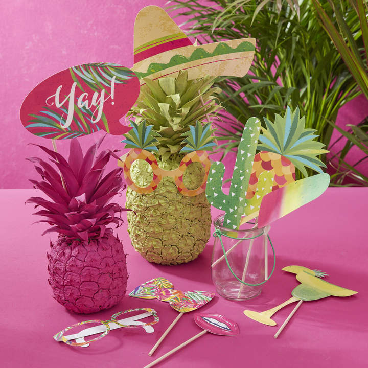 Ginger Ray Tropical Hot Summer Party Photo Booth Props Pack
