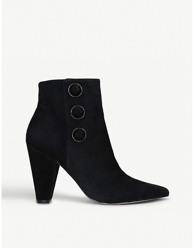 Carvela Sum button-detail suede boots
