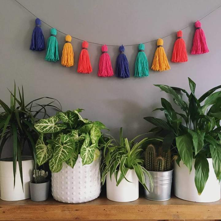 Pins and Needles Tropical Cotton Tassel Garland