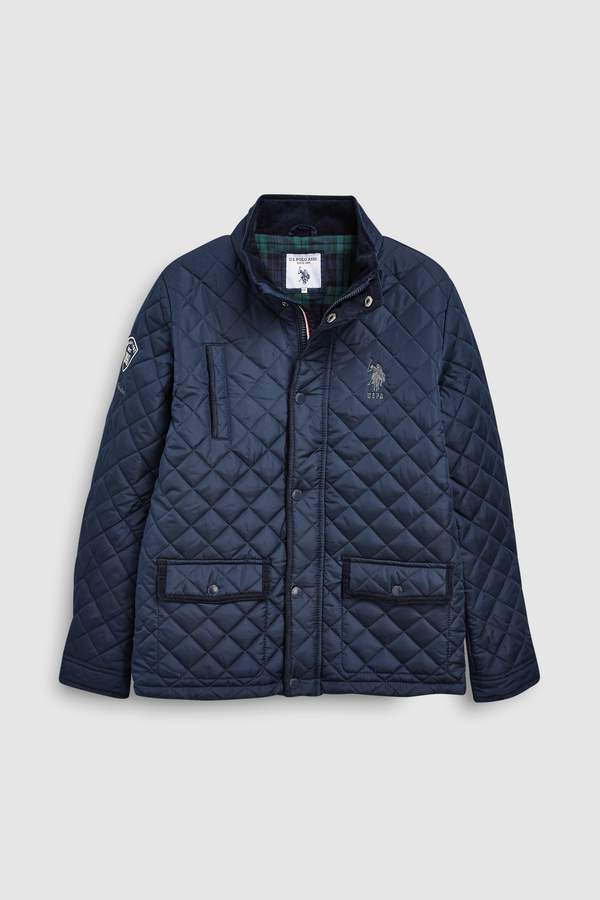 Boys U.S. Polo Assn. Navy Quilted Riding Jacket