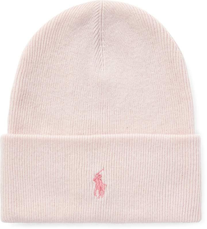 Ralph Lauren Pink Pony Wool-Cashmere Hat