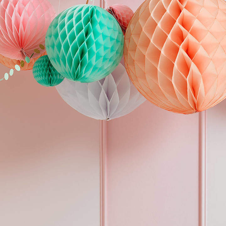 Peach Blossom Pastel Paper Ball Party Decorations