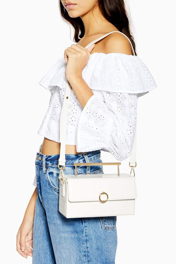 Topshop Womens Coro Boxy Grab Bag - White