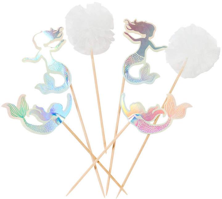 Bubblegum Balloons We Heart Mermaids Cake Toppers