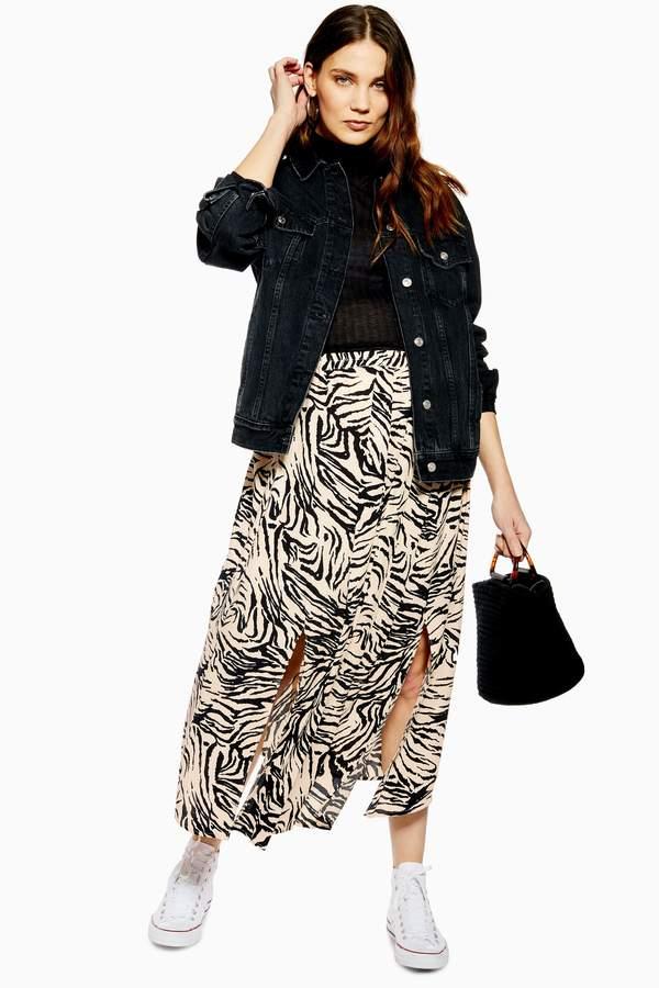 Topshop Womens **Maternity Box Pleat Skirt - Ivory