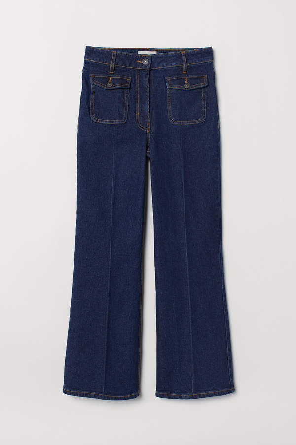 H&M High Cropped Flared Jeans