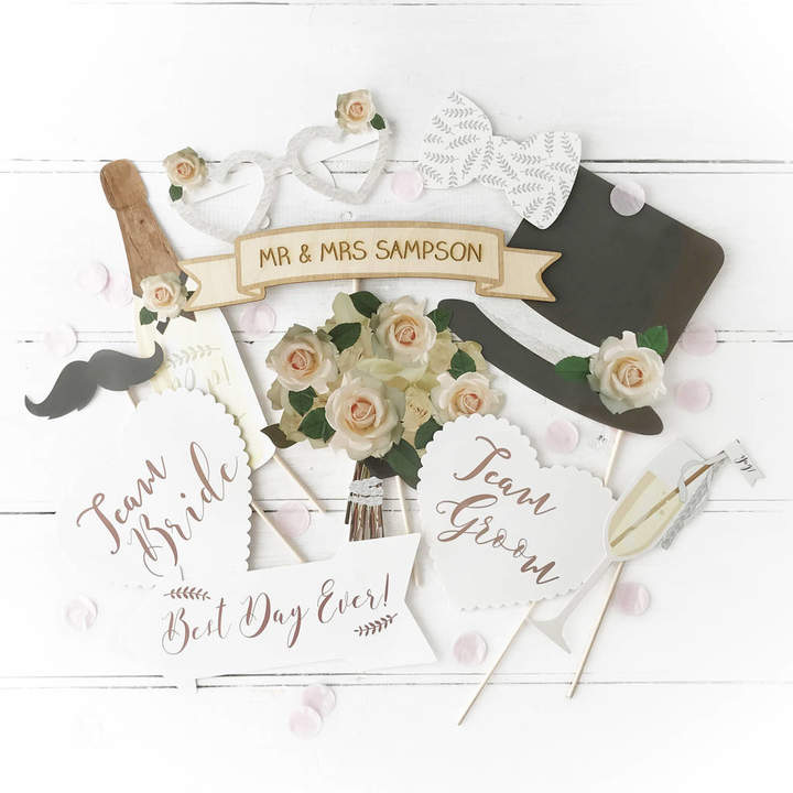 Postbox Party Wedding Photo Booth Props With Personalised Sign