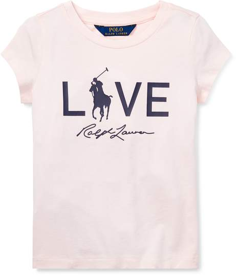 Ralph Lauren Kids Pink Pony Live Love T-Shirt