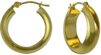 Thick Gold Hoop Earrings   ShopStyle     JCPenney FINE JEWELRY 14K Gold Thick Hoop Earrings