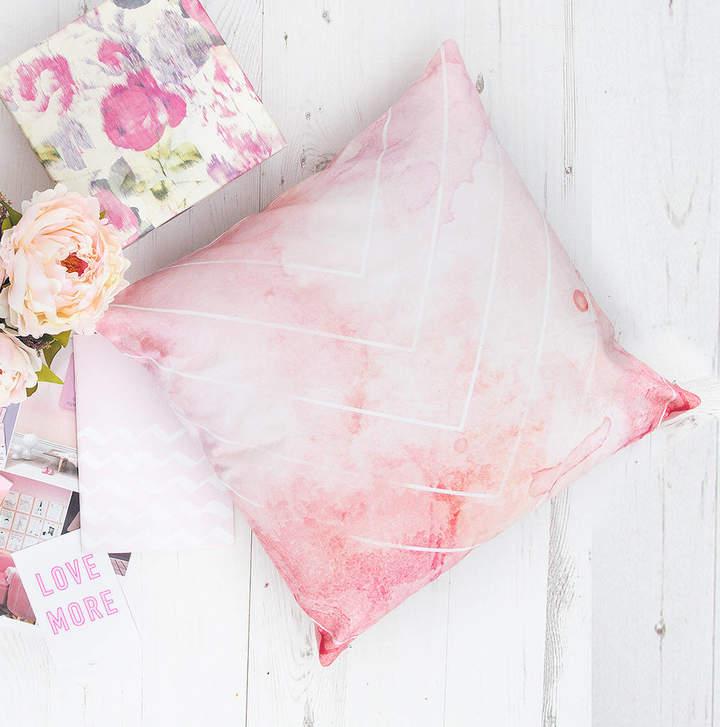 Emodi Bohemian Watercolour Pastel Chevron Pattern Cushion