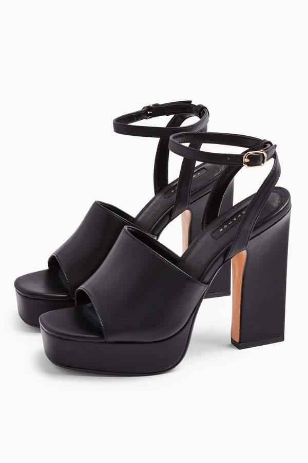 Topshop Womens Rafa Chunky Platform Shoes - Black