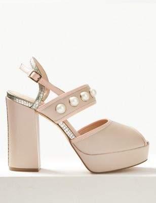 The Natalie Peep Toe Shoes