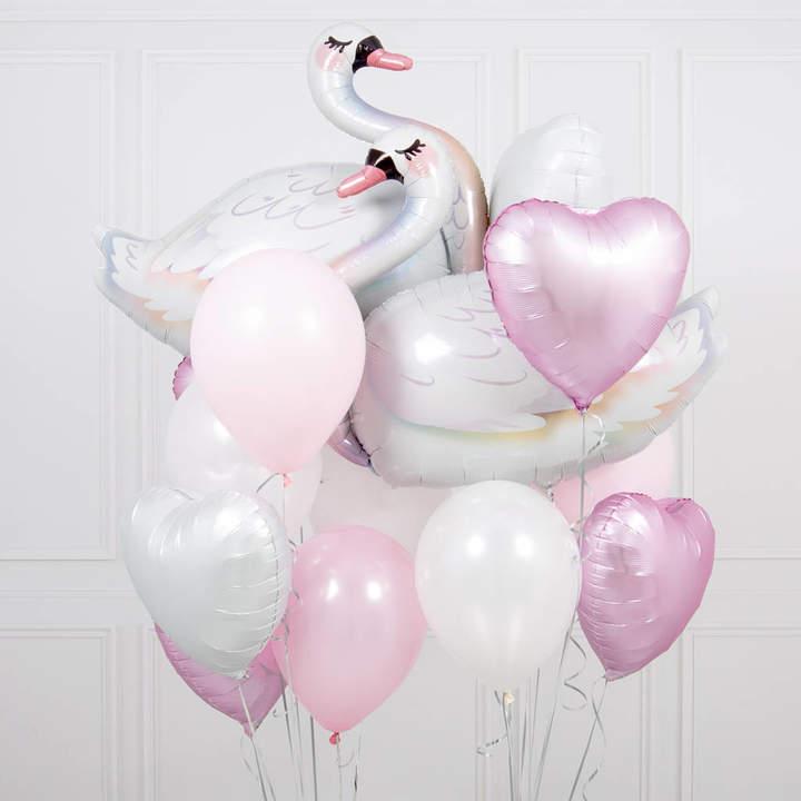Bubblegum Balloons Swan Crazy Balloon Bunch