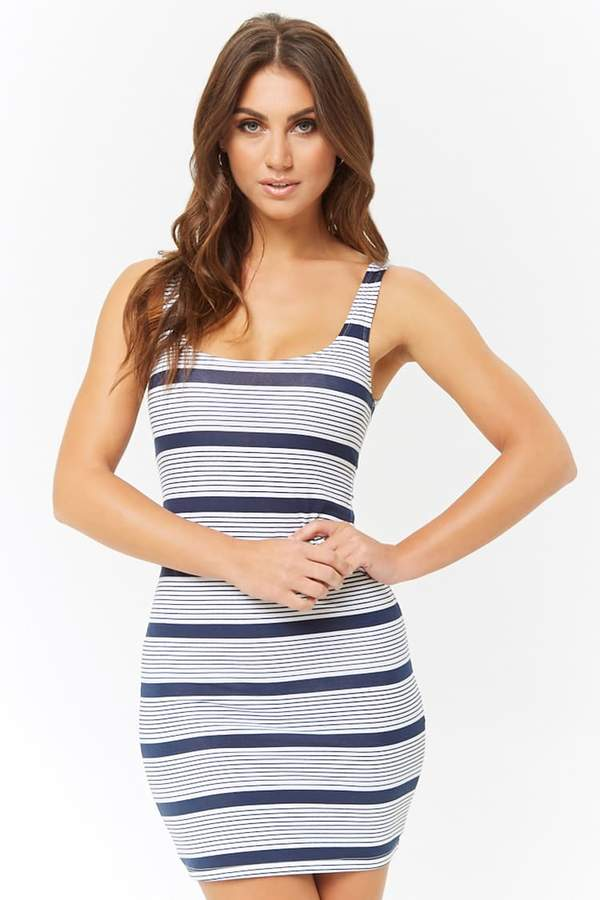 Forever 21 Striped Bodycon Tank Dress
