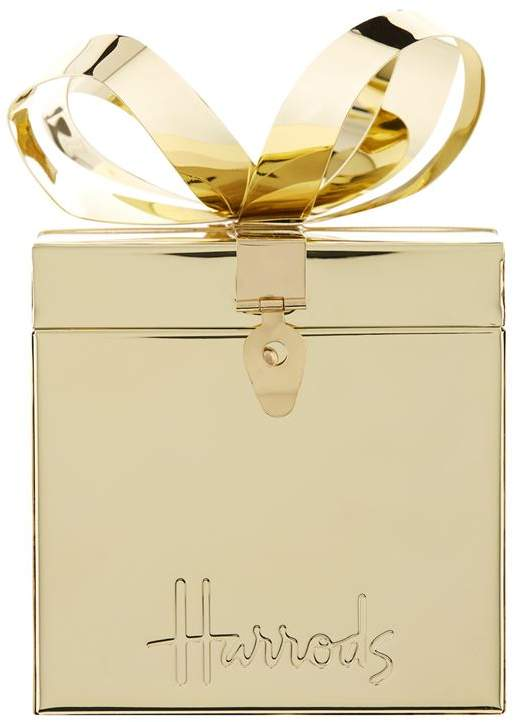 Harrods Large Gold Trinket Box