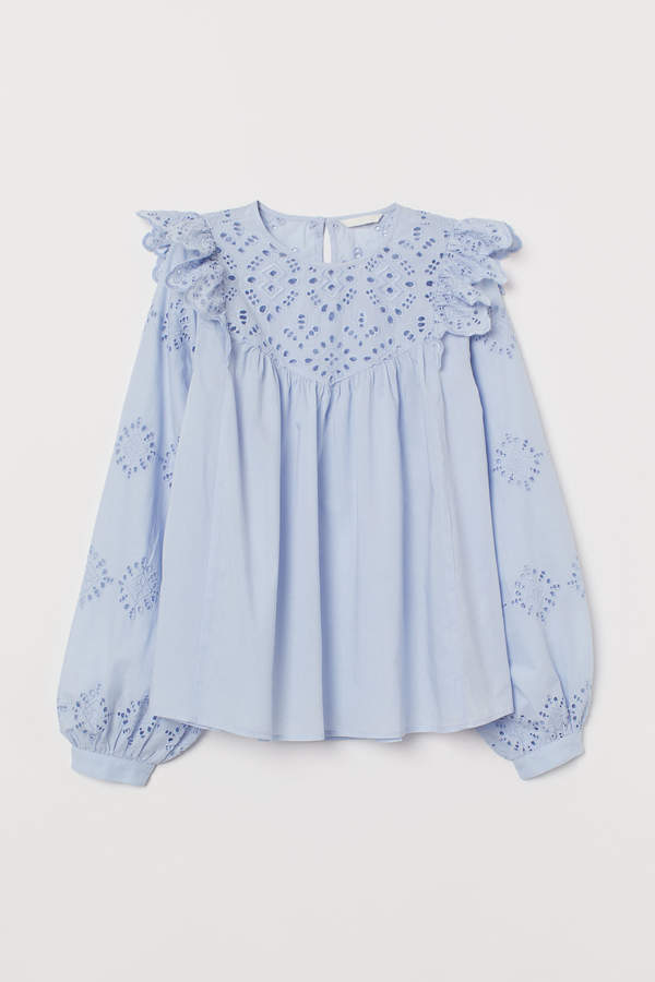 H&M Hole-embroidered blouse