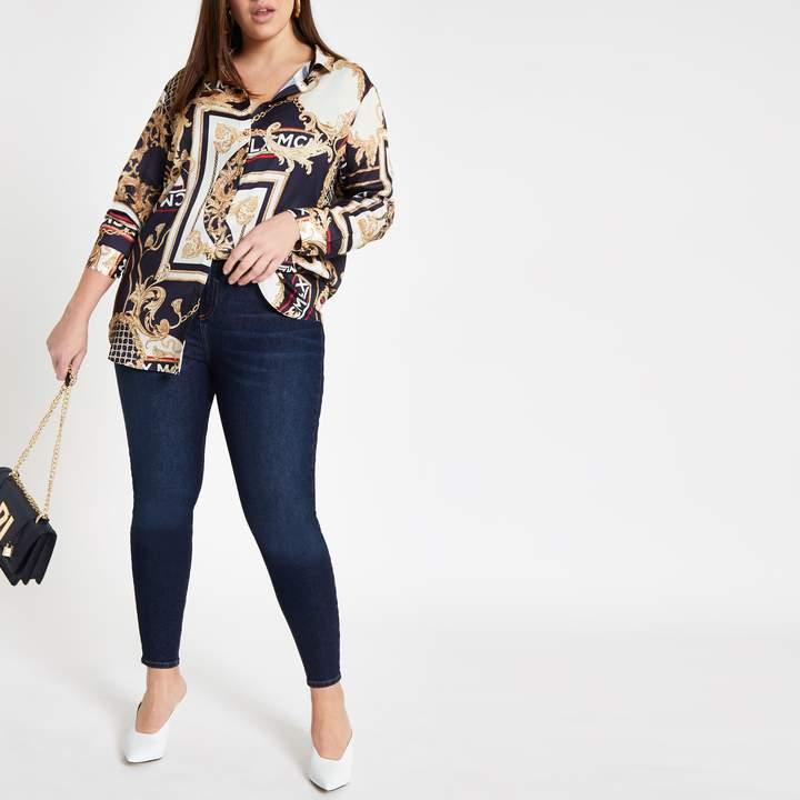 Womens Plus Blue Kaia high rise disco jeans