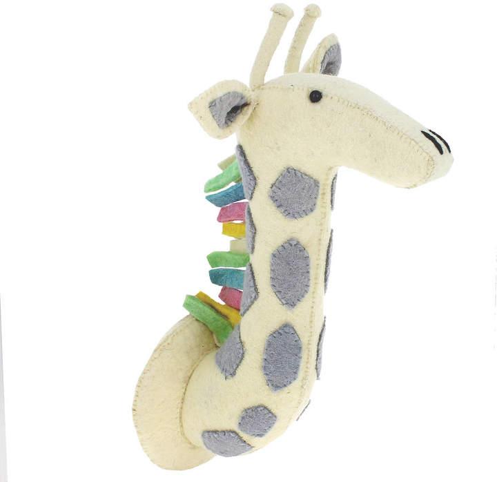 Little Ella James Pastel Giraffe Safari Decorative Wall Head