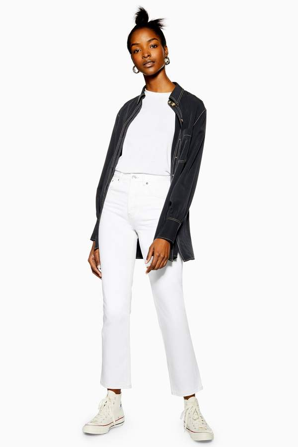 Topshop Womens Off White Editor Jeans - Off White