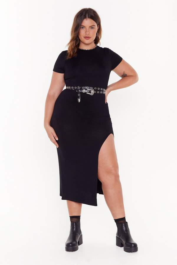 Nasty Gal Womens Maxed Out Plus Maxi Dress - Black - 16