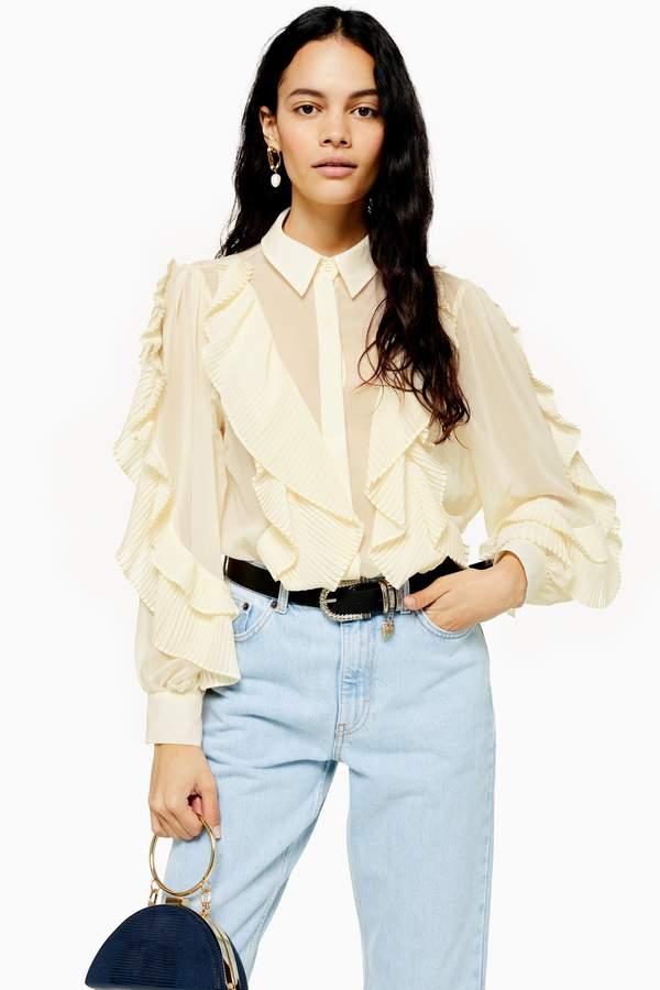 Ruffle Pleat Shirt