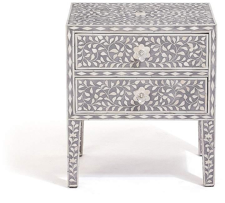 LOMBOK Jasmine Bone Inlay Bedside Table