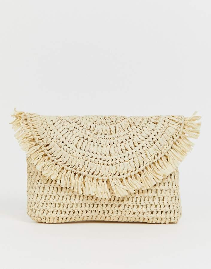 Asos Design ASOS DESIGN straw clutch bag