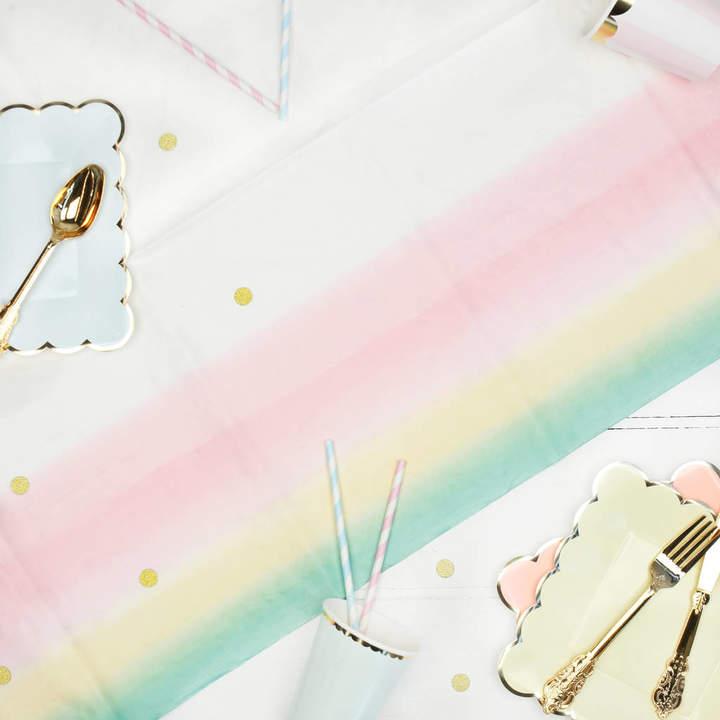 Postbox Party Pastel Ombré Paper Party Tablecloth