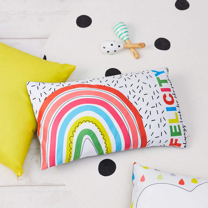 TillieMint Children's Rainbow Personalised Cushion
