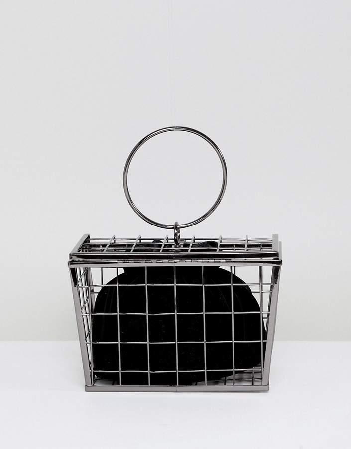 Asos Design ASOS DESIGN shopping basket cage clutch bag