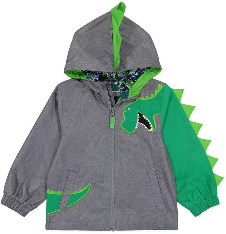 London Fog& Dino Hooded Jacket in Grey/Green