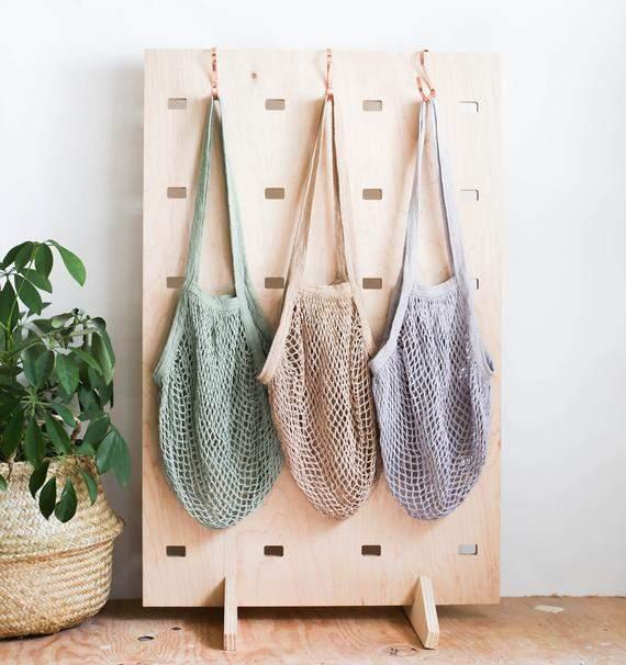 Net Bag, SOLID COLOR, Crochet Tote Bag, Bag for Produce, Mesh Bag, Reusable Grocery Bag, Farmers Market Bag, Fishnet Bag, String Bag, Tote