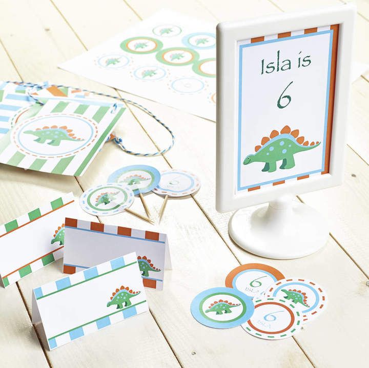 The Humble Hostess Dinosaur Personalised Children's Party Decoration Pack