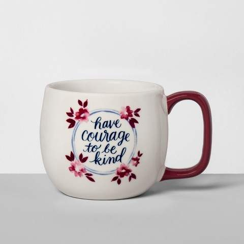 Threshold Porcelain Have Courage To Be Kind Mug 16oz White/Red