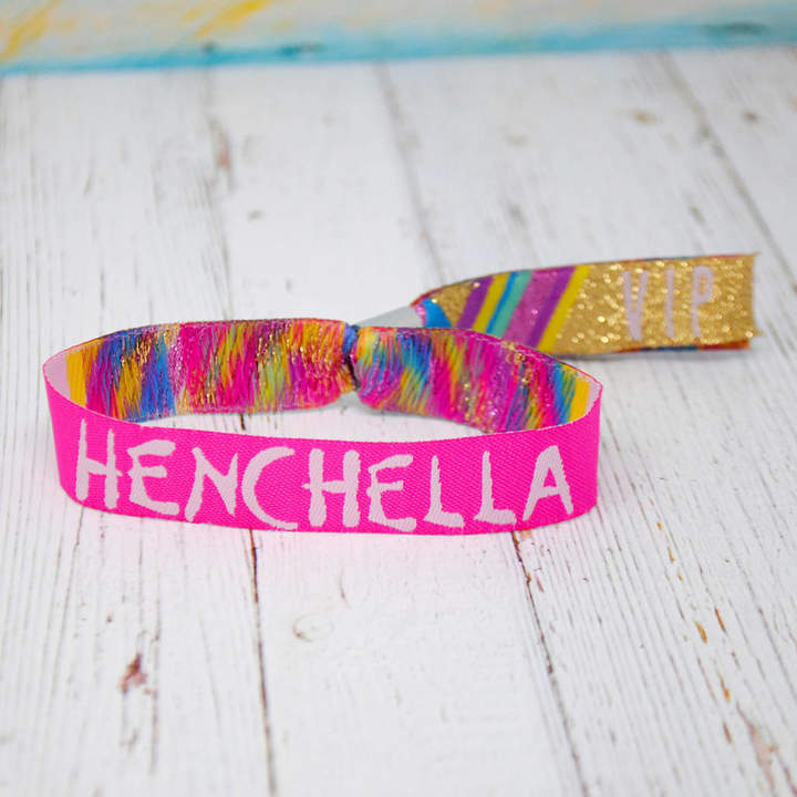 WEDFEST Henchella Hen Party Wristband Favours